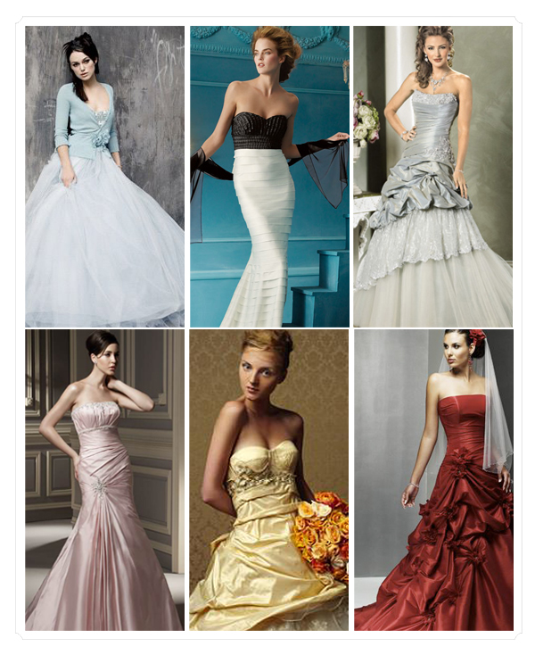 The politics of wedding gown color thefeministbride for Different colored wedding dresses