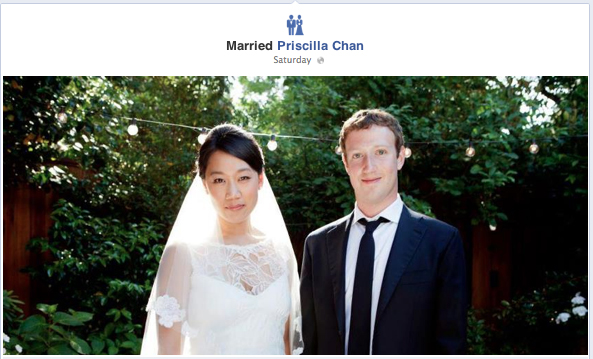 Mark Zuckerberg & Priscilla Chan at their Wedding
