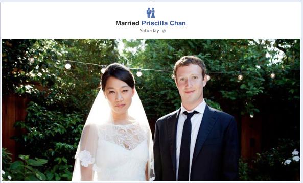 Mark Zuckerberg & Priscilla Chan at their Wedding