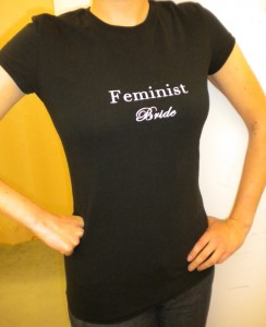 The Feminist Bride T-shirt Design