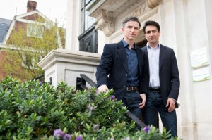 Leon Neal/AFP/Getty Images -  Peter McGraith (L) and David Cabreza plan to be one of the first same-sex couples in England and Wales to marry on March 29, the day gay marriage becomes legal in the United Kingdom.