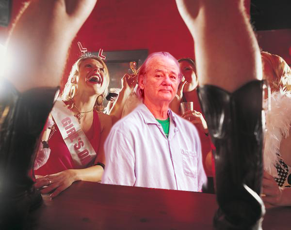 Bill Murray at Bachelorette Party