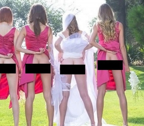 TEASER-ONLY-Wedding-picture-trend-to-bare-bums