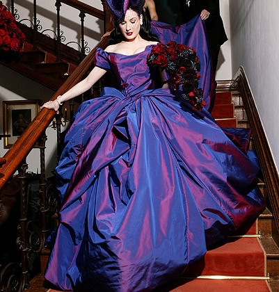 Dita von Teese wedding gown to Marilyn Manson, 2005