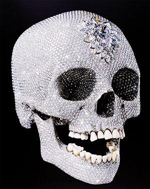 Artist, Damien Hirst's Diamond Skull