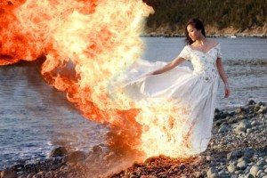 Photos Of Brides Setting Their Dress On Fire While They Are In Them Most Likely Photoped For The Love Vera Don T Do This Real