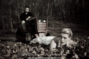 Trash the Dress Lawn Mower vs Wedding Dress