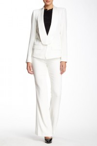 Rachel Zoe Jolee Tuxedo Flare Pant stylishly gives bridal white a sleek and sophisticated look.