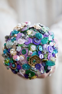 Button Bouquet: Make sure to save the buttons on clothing you discard! This can be a classy and elegant option if done well and will last forever!