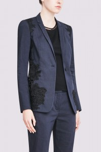 Elie Tahari shows how a formal jacket can work amazingly with classic wedding lace. This Wendy