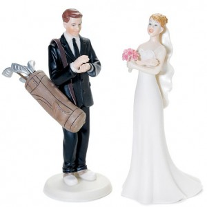 Golf-Fanatic-Bride-and-Groom-Cake-Topper-D