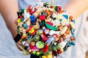 Toy Bouquet: A great upcycled option for a playful bride, especially since most toys end up in landfills and can't be recycled.