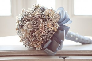 "Brooch Bouquet: A great option that's environmental, long-lasting and crosses off the ""something old"" element. Certainly a statement bouquet to hand down to future generations."
