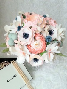 Paper Flowers Bouquet: A delicate replacement for real flowers and one that won't wilt in the heat and will keep for the next bride.